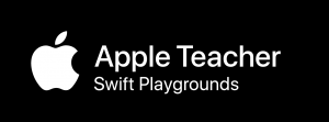 Crossmedia: Logo Apple Teacher Swift Playgrounds