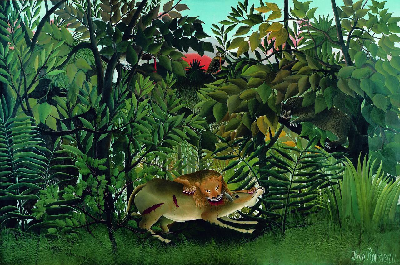 """Der Schatten der Avantgarde: Gemälde """"Le Lion"""" von Henri Rousseau"""