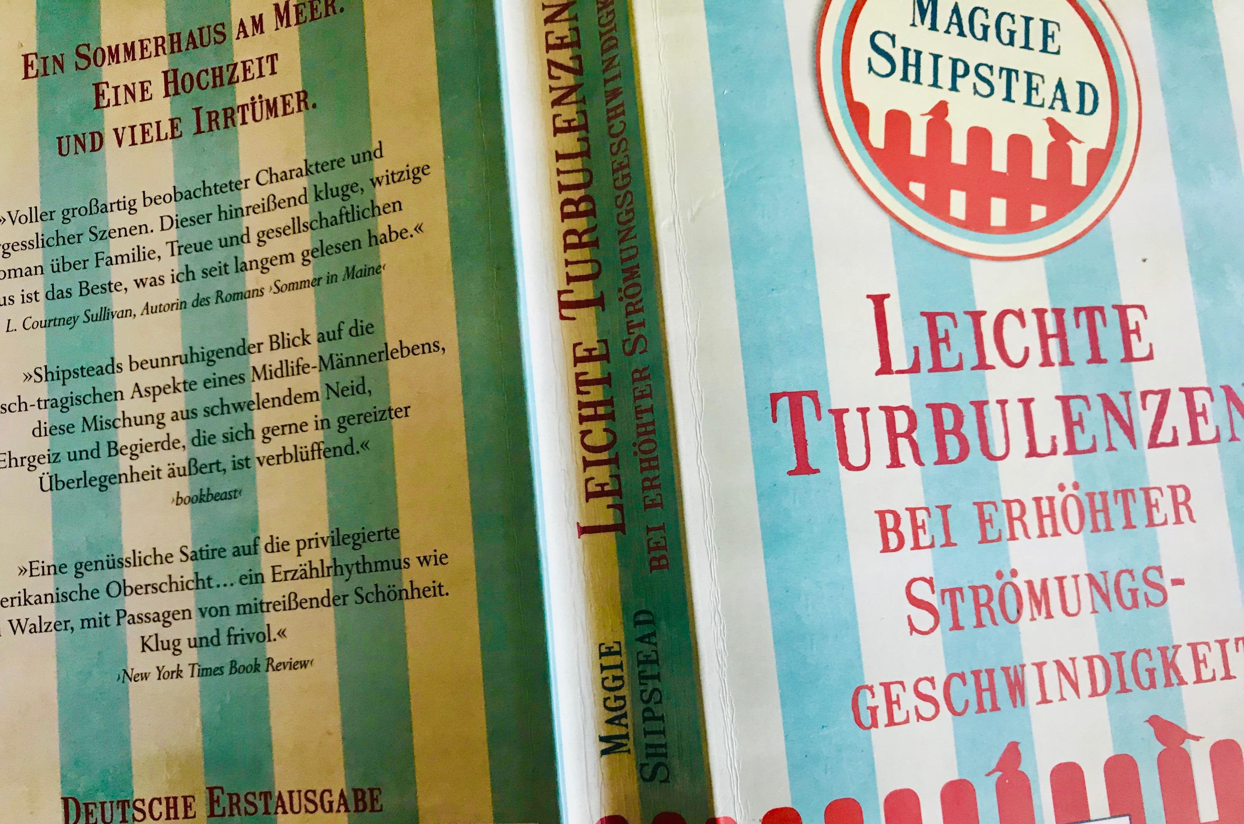 """Buchcover """"Leichte Turbulenzen bei erhöhter Strömungsgeschwindigkeit"""