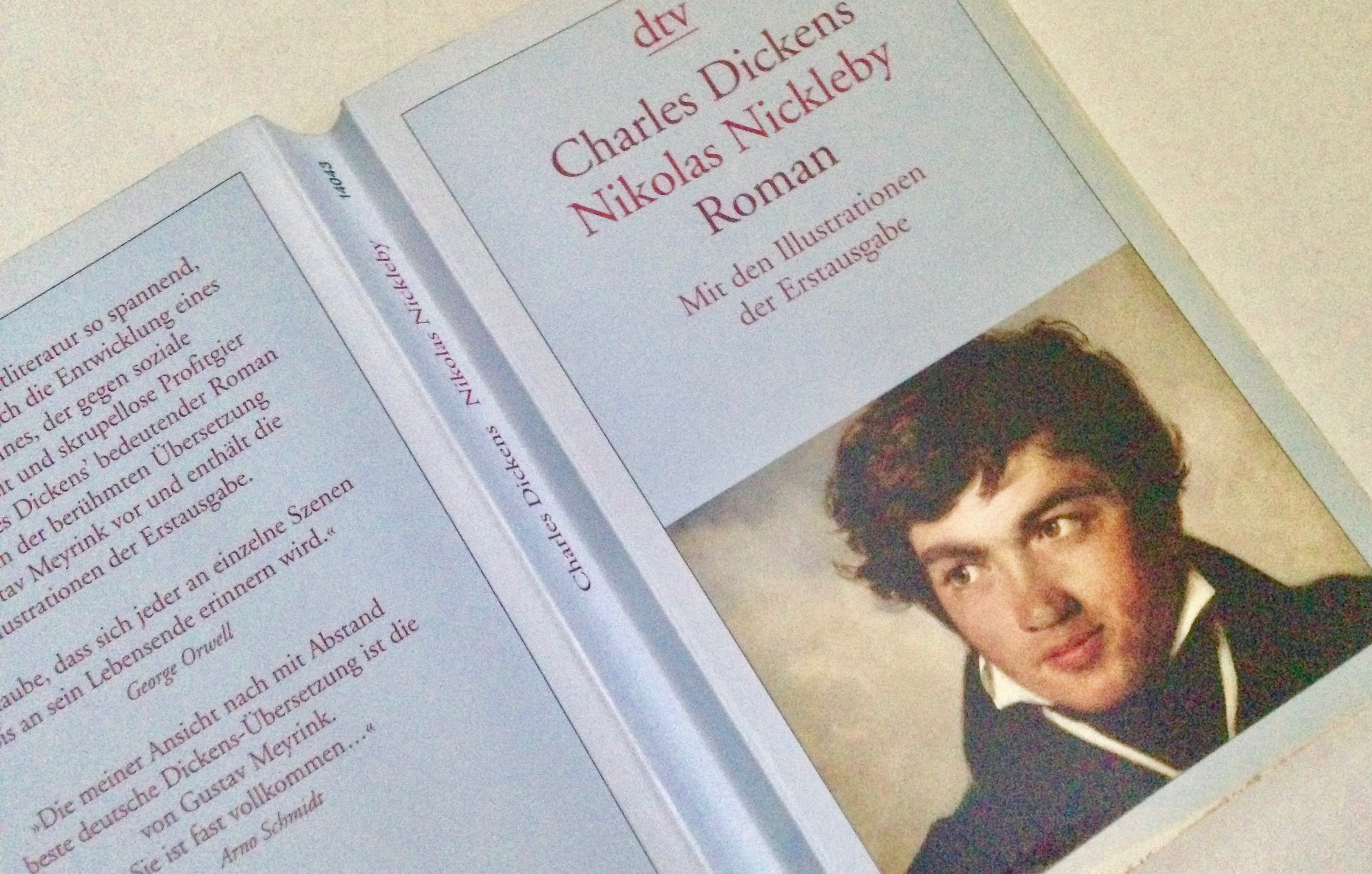 """Buchcover """"Nicolas Nickelby"""" von Charles Dickens, übersetzt von Gustav Meyrink"""