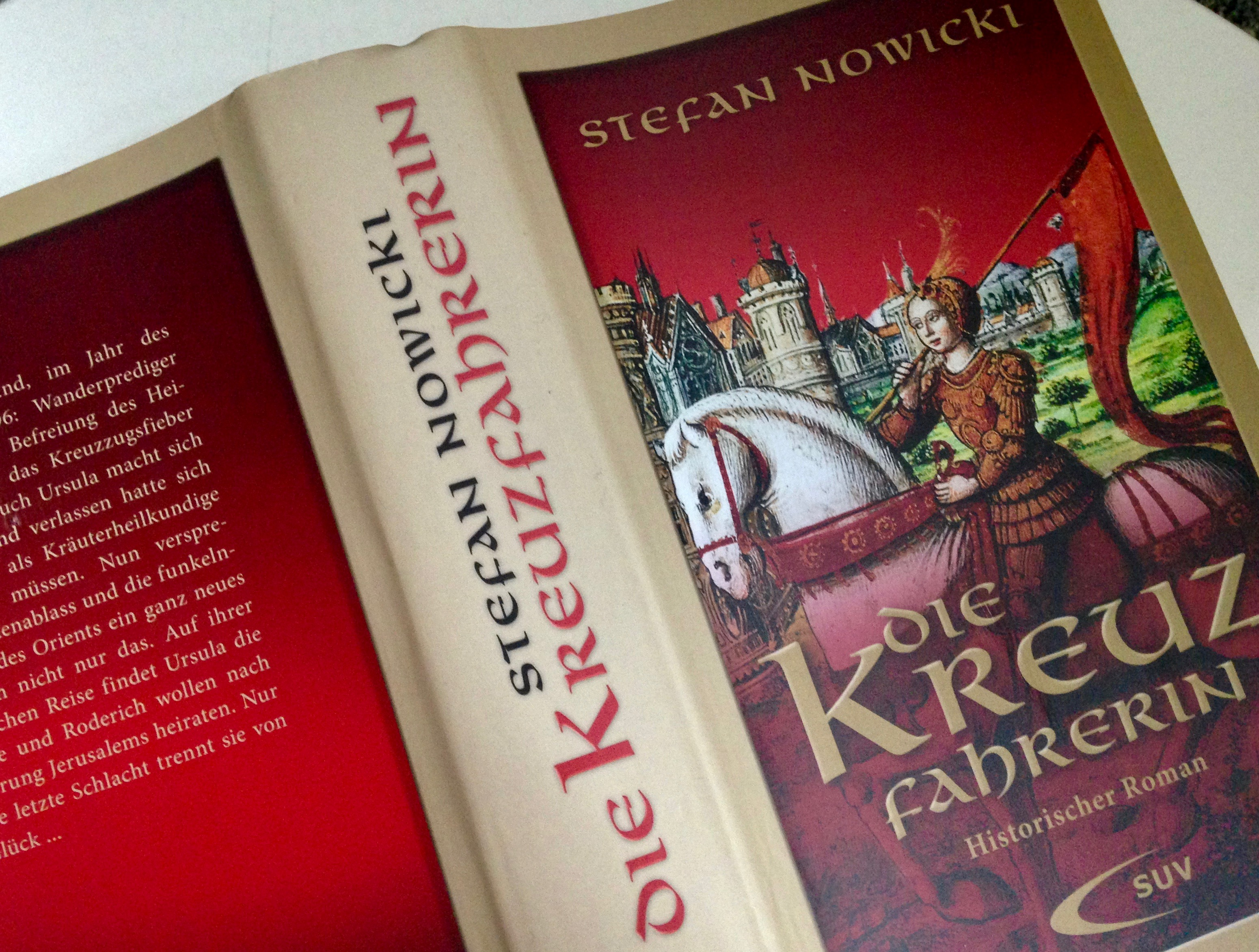 """Buchcover """"Die Kreuzfahrerin"""" von Stefan Nowicki"""