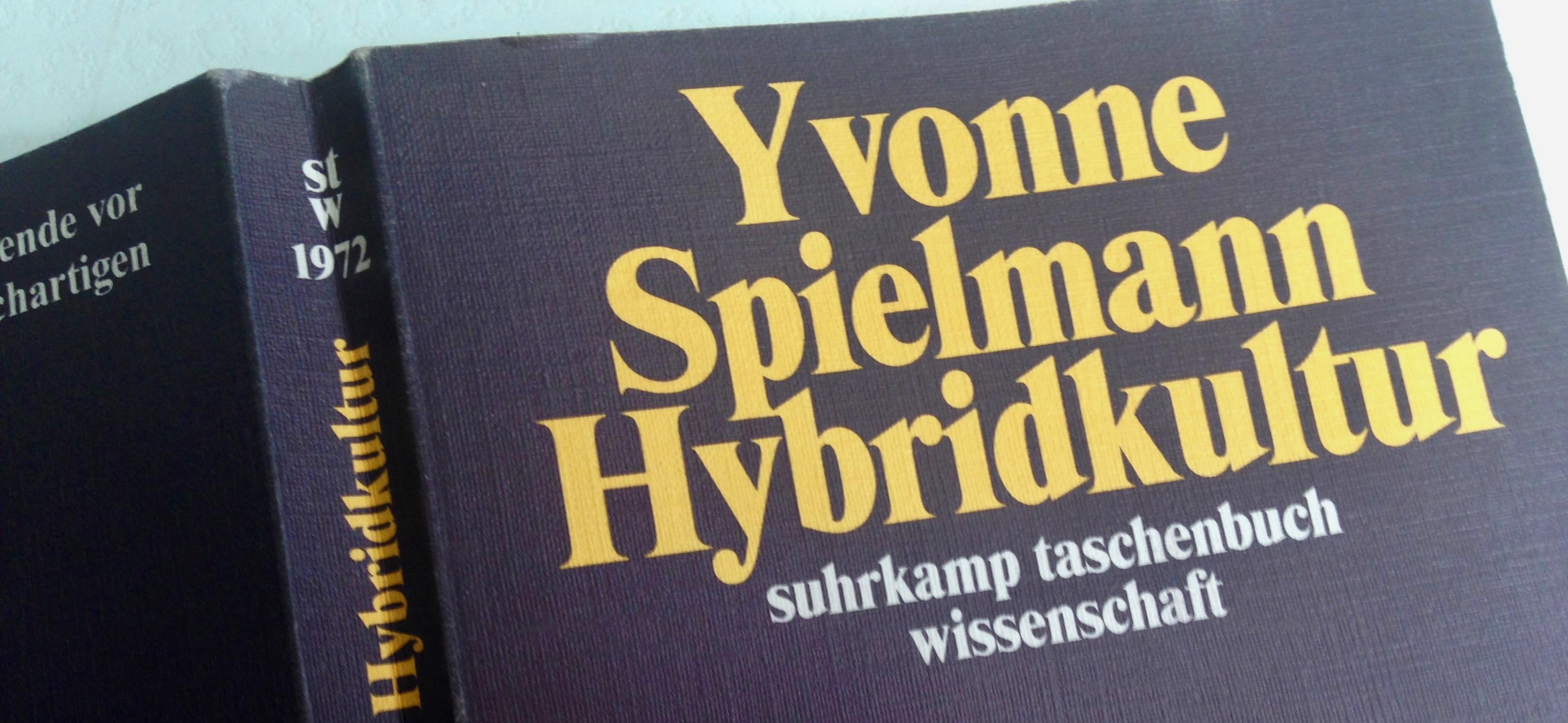 """Medienkunst aus Japan: Buchcover """"Hybridkultur"""" von Yvonne Spielmann"""