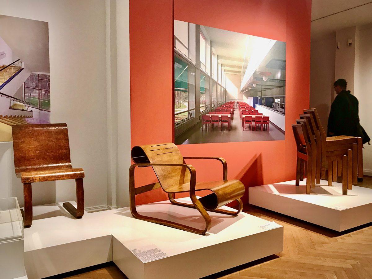 Teil der Nordic Design-Ausstellung: Stuhl von Alvar Aalto